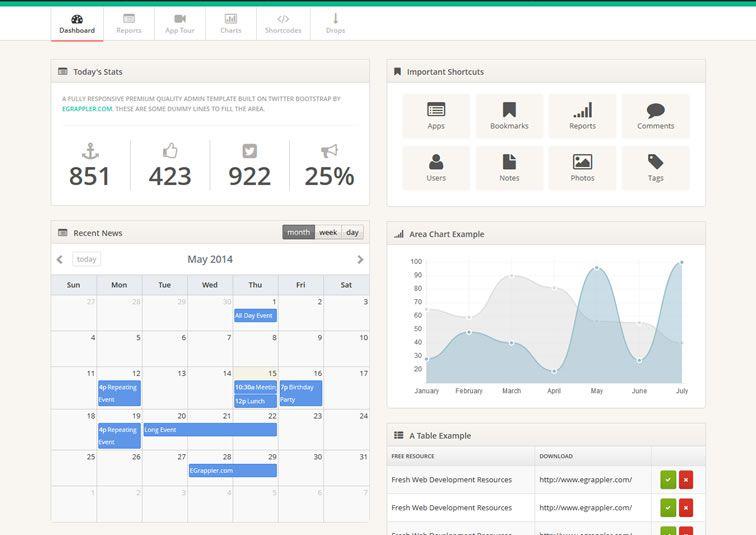009-TemplateVamp – Bootstrap Admin Theme
